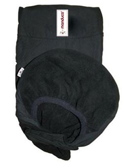 Baby carrier cover black
